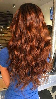 Hairstyles 40 Relaxing Fall Hair Color Ideas For 2019 Trends - Cabello Rubio Fall Hair Colors, Brown Hair Colors, Red Brown Hair, Front Hair Styles, Curly Hair Styles, Hair Front, Hair Inspo, Hair Inspiration, Hair Color Auburn