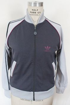 adidas track zip up jacket sweatshirt from the by bubblemars