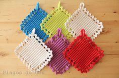 1 x Pega em Crochet. Feito à mão por T. Catana. by pingosdoceu