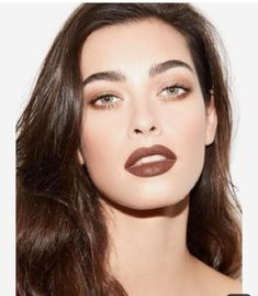 brown lipstick Makeup Looks You Could - lipstick Glam Makeup, 1990s Makeup, 90s Makeup Look, Dark Makeup, Natural Makeup, Beauty Makeup, Brown Lipstick Makeup, Brown Makeup Looks, Beauty Box