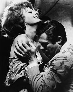 Sophia Loren and Marcello Mastroianni on the set of Matrimonio all'Italiana (Marriage, Italian Style), 1964