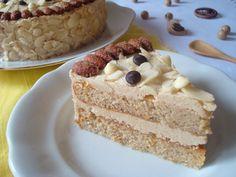 Mandlový dort s mandlovým krémem Vanilla Cake, Food, Vanilla Sponge Cake, Meal, Essen