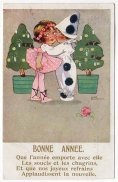 the Pierrot and Pierrette kiss
