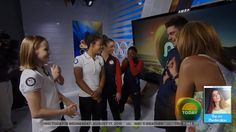 I LOVE THIS SO MUCH!!!   SO happy for you girls and this was so cool of ZAC!!  Zac Efron Meets Simone Biles and the Final Five Girls on Today | LIVE 8-...
