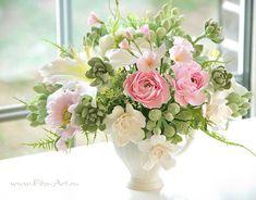Екатерина Звержанская (Москва)... цветы из полимерной глины