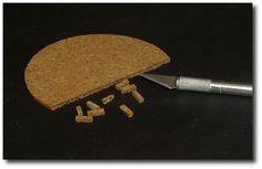 Make a brick wall with cork
