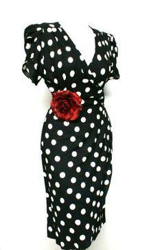 Polka dots and roses