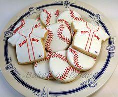 Baseball /Red Sox Cookies   Flickr - Photo Sharing!