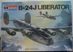 Vintage 1970's Model Airplane Kit B-24 Liberator by RolandDressler Liberator bomber USAAF Shepard Paine model kit   B-24 1/48 scale c.1976 Monogram   Model is open but complete with parts on sprue, instructions, decals and diorama booklet.