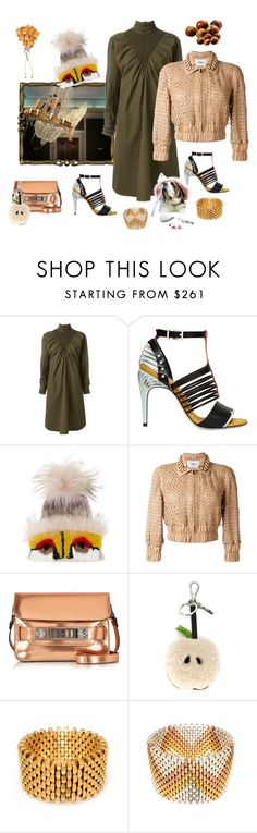 """""""HazelNuts"""" by juliabachmann ❤ liked on Polyvore featuring Fendi, Hermès, Proenza Schouler and Alice Menter"""