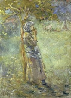 Global Gallery 'Under the Apple Tree' by Berthe Morisot Painting Print on Wrapped Canvas Pierre Auguste Renoir, Edouard Manet, Painting People, Woman Painting, Claude Monet, Tree Canvas, Canvas Art, Berthe Morisot, Art Commerce