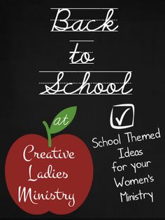 Back to School at CLM (Back to School Devotionals and Ideas for Women's Ministry)