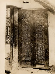 Door of the Church of Saint Anthony.  Coptic Orthodox Monastery of Saint Anthony, Egypt, 1930-1931