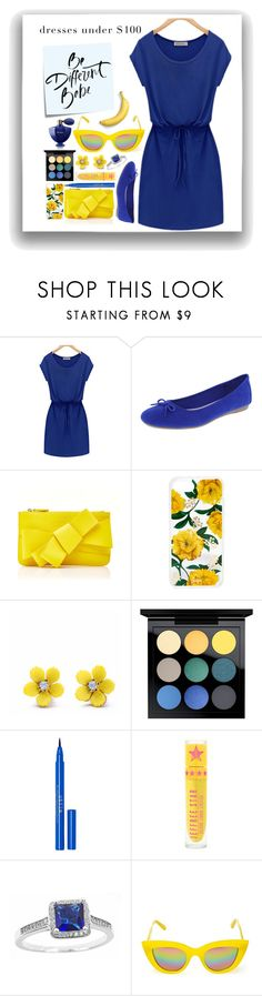 """""""opposites attract."""" by downeastgirl88 ❤ liked on Polyvore featuring Delpozo, Sonix, WithChic, MAC Cosmetics, Stila, Quay, Guerlain and Post-It"""