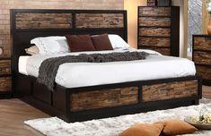 New Classic Makeeda California King Storage Bed in Rustic