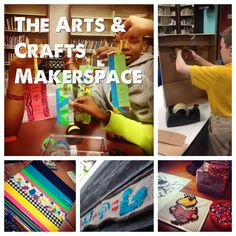 I covered Arts and Crafts in my Makerspace Wishlist series back in April. Since then, I've had a lot more arts and crafts activities in my library, and I realized that I needed to revisit th… Art And Craft Videos, Easy Arts And Crafts, Crafts For Kids, Library Activities, Craft Activities, Steam Activities, Preschool Crafts, Library Center, Library Lessons
