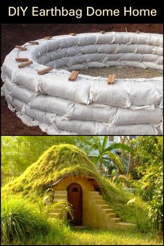 This earthbag dome home is well suited for many purposes. You can use it as a cool getaway space in summer. A warm escape for the winter. Backyard Chicken Coops, Chickens Backyard, Natural Homes, Dome House, Build Your Own, Outdoor Furniture, Outdoor Decor, Garden Bridge, Projects To Try