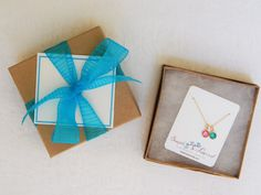 Gift Wrap Add On, Kraft Box and Ribbon, Hand written note card, Simple and Layered