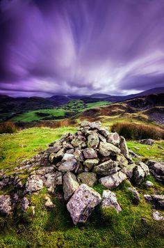 ~~Craig yr Aderyn (Bird Rock) ~ moody purple sunrise, Gwynedd, Wales by Howie Mudge~~