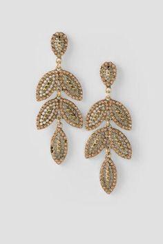 Ava Leaf Drop Earrings