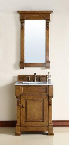 "Brookfield 26"", James Martin Country Oak Traditional Bathroom Vanity - The Bathroom Vanity Store Canada - 26"" - 1"