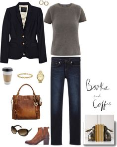 """Books and Coffee"" by summitsp ❤ liked on Polyvore"