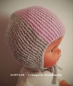READY TO SHIP Newborn hat 0-3 months  Cappellino di Danylab