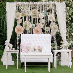 we ❤ this!  moncheribridals.com  #weddingbackdrop #weddingreceptiondecor