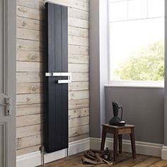 Add contemporary style to your bathroom with the Hudson Reed Ceylon vertical designer radiator
