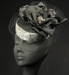 """The """"Clarice"""" Fascinator - The Silver Belles Hat Collection -http://www.maggiemae.com"""