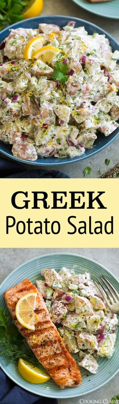 Greek Potato Salad via @cookingclassy #potatosalad #greek #recipes