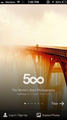 500px iOS app