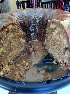 Southern Apple Bunt Cake with Caramel Glaze