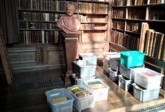 Spring-Summer work is underway to sort and allocate Crewe books to their shelves in the Wren Library Trinity Library, Wren, Spring Summer 2016, Bookcase, Shelves, Home Decor, Shelving, Decoration Home, Room Decor