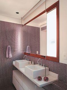 Banheiros Decorados: Pastilhas de Vidro