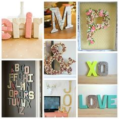 14 Ways to Decorate Cardboard Letters | tomatoboots.co