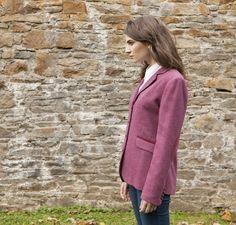 Classic Ladies Tweed Hacking Jacket - Pink Herringbone Ladies Jackets, Jackets For Women, Donegal, One Size Fits All, Herringbone, Tweed, Coats, Lady, Classic