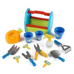 Rainbow Gardening Tool Box Garden Tools Toy Set for Kids Garden Wagon, Garden Tool Shed, Garden Tool Storage, Box Garden, Garden Plants, Outdoor Learning, Outdoor Play, Tool Sheds, Garden Items
