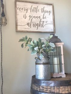 Every little thing is gonna be alright | Wood Sign | Wood Sign Sayings | Motivational Sign | Framed Sign | Uplifting Quote | Inspiring Quote Hand-painted wood sign, Every little thing is gonna be alright that has an extra added touch with the framing making it look like a shadow