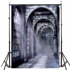 a516c3bf145 5x7ft Vinyl Retro Old Castle Backdrop Studio Photography Photo Background  Props