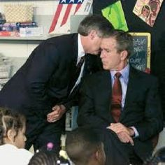 Moment in history..When President Bush learned about 911