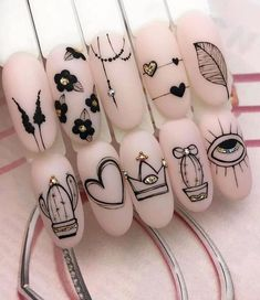 Hot Nails, Pink Nails, Nail Art Arabesque, Hot Nail Designs, Best Acrylic Nails, Dream Nails, Manicure E Pedicure, Stylish Nails, Nail Swag