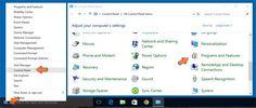 Accesso a programmi e funzionalità in Windows 10