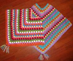 Poncho - granny stitch with pattern