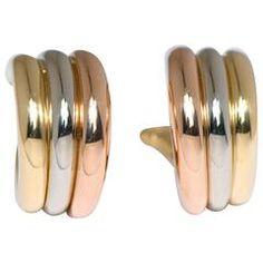 Cartier Tricolor Gold hoop earrings