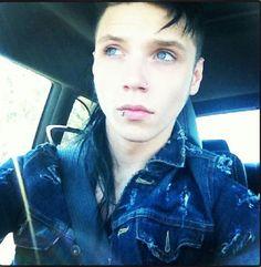 His eyes  :D I love him and his band sooooooooo much