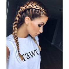 This schoolgirl favorite is all grown up. See the 12 new braided hairstyles we c… This schoolgirl favorite is all grown up. See the 12 new braided hairstyles we can't get enough of and learn exactly how to do them New Braided Hairstyles, Pretty Hairstyles, Hairstyle Ideas, Summer Hairstyles, Active Hairstyles, Boxer Braids Hairstyles, Summer Hairdos, Everyday Hairstyles, Amazing Hairstyles