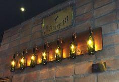 Wine bottle lamp luminaria garrafa de vinho Faco sob encomenda: 011-999-721-315