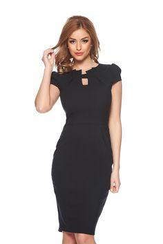 Fofy Passion Style Black Dress, form-fitting, back zipper fastening, one back botton fastening, slightly elastic fabric Fit Back, Baptism Dress, Meet Friends, Product Label, Summer Breeze, Dress Cuts, Dress Form, Dress Backs, Mall