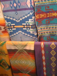 Dale Chihuly's collection of over 700 Pendleton Blankets.